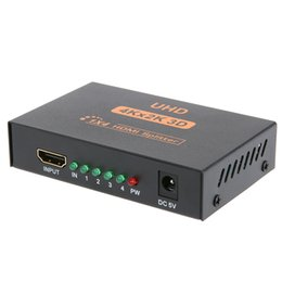 Усилитель репитера hdmi онлайн-3D 4K*2K HDMI 1080P Splitter 1x4 HDMI Switcher переключатель сплит 1 в 4 из видео усилитель повторитель для HDTV дисплей DVD PS3