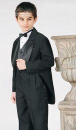 Wholesale Images Boy Accessories - Hot Sale boy wedding suit Groom Wear & Accessories Boy's Attire Groom Tuxedos (pants+vest+jacket)