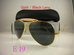 Wholesale Mens Driving - High quality sunglasses brand designer fashion New 62MM sunglass Mens Womens sun glasses For box And case Free Shipping!