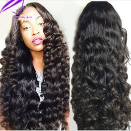 Wholesale High Quality Red Wig - High quality Loose wave Synthetic Lace Front Wigs Black With Baby Hair Heat Resistant Brazilian Hair Wigs For Black Women