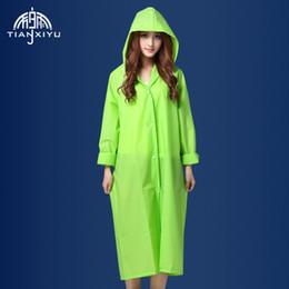2019 batteria coreana Cappotto impermeabile facile da portare Cappotto impermeabile da pioggia EVA Impermeabile con cappuccio da donna Impermeabile poncho trasparente Escursionismo 1 per confezione