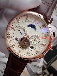 Wholesale Tourbillon Watches Steel - Fashion Luxury Brand Swiss Gold Watch leather Tourbillon Watch Automatic Men Wristwatch Men Mechanical steel Watches relogio masculino clock