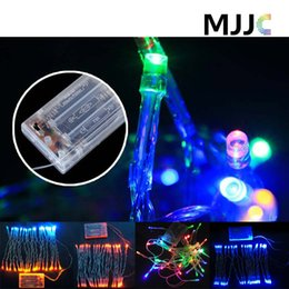 Wholesale Rgb Led Net Lights - 2M 3M 4M 5M LED String Mini Fairy Lights 3AA Battery Operated White Warm White Blue Yellow Green Purple Pink Christmas Lights Decorations