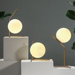 Wholesale Wholesale Floor Lamps - New Modern Brief LED Glass globe floor light led table lamps bedside lamp living room light fixture LED night lights modern floor lamp