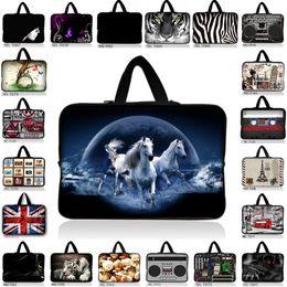 Wholesale 17 Laptop Case Handles - print 10 13 13.3 14 15 15.6 17 17.3 Inch Laptop sleeve Notebook Bag Case Handle BAG Laptop Bag for ipad macbook