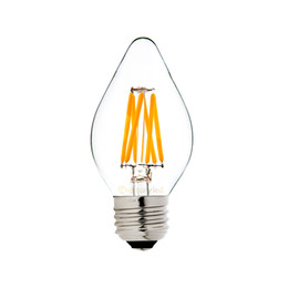 Wholesale dimmable candle led e26 - Retro LED Filament Light Bulb Warm White 2700K C15 4W 110V 220V E26 E27 Base Lamp Dimmable