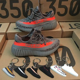Wholesale Kanye West Kids - 2018 Baby Shoes Kanye West SPLY 350 Boost V2 Zebra Kids Running Shoes Children Athletic Shoes Beluga 2.0 Sport Sneaker Black Red