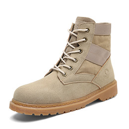 Wholesale mens casual leather motorcycle boots - 2017 Fashion Classic 10061 Wheat Yellow TBL Boots Women Mens Retro Waterproof Outdoor Work Sports Shoes Casual Sneakers Size 36-44