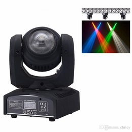 Wholesale 15 Led Moving - LED DMX Stage Spot Light 2 LEDs Moving 15 21CH Channels dj effect stage lights Mini LED Moving Head Fast Shipping