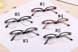 Wholesale Nerd Geek Retro Glasses - Fashion Women Men Designer Retro Star Glasses Clear Lens plain mirror Eyeglass Reading Spectacle Frame Nerd Geek Optical Eyewear