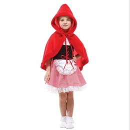 Wholesale Little Girl Clothes For Sale - Sale Halloween Costume For Kids Little Red Riding Hood Children's Fancy cosplay Dress Sexy Carnival Party Girls Clothes Gifts