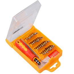 Wholesale Multi Tool For Bike - household multi-function 32 in one combination screwdriver tool screwdriver set manual tool for PC TV Bike repair