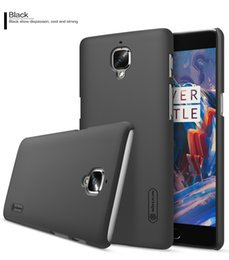 Wholesale Nillkin Screen Protector Wholesale - Oneplus 3 One plus 3T case NILLKIN Super Frosted Shield hard back cover for One plus 3 Case Cover + free screen protector Oneplus 3T