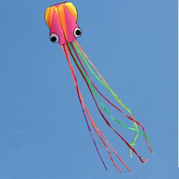 Wholesale Software Octopus Kite D Nylon Beach Flying Kite Octopus Outdoor Sport Colorful Aquilone Travel Waterproof Toy Gift For Children