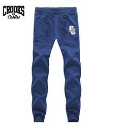 Wholesale Fleece Jogging Pants - Mens Joggers 2017 Brand Male Trousers Men Crooks and Castles hip hop Pants Casual Jogging Sweatpants Jogger Black