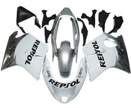 Wholesale White Repsol Fairings - New ABS Fairing Kit 100% Fit for HONDA CBR1100XX Blackbird 1996 1997 1998 1999 2000 2001 2002 2003 2004 2005 2006 2007 CBR1100 repsol white