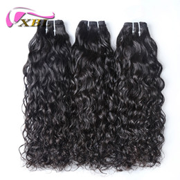 Wholesale Xbl Hair - XBL New Arrival Amazing Water Wave Human Hair Bundles 3 4 Bundles One Set Within 24 Hours Delivery