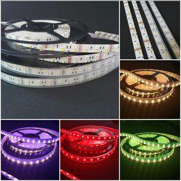 Wholesale Double White Led Strip - DC12V 5M Double Row RGBW 5050 RGB + 2835 warm cool White LED flex RGBW 600 LED Strip Lights