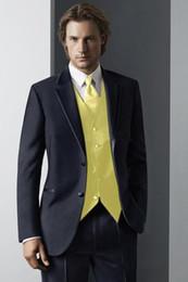 Wholesale Men S Wedding Suit Back - The new 2017 dark blue as the incision lapel best man wedding dress business suit (jacket + pants + + s)