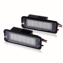 Discount vw led number - 2Pcs LED License Plate Lights SMD 3528 Number Plate Light For VW Golf GTI 5 6 Passat Phaeton New Beetle CC For Porsche order<$18no track