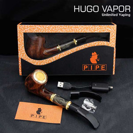 Wholesale China E Pipe - 618 epipe Special Design big vapor E-pipe kit e cigarette China with high quality E cigars in gift Box Luxury Hugo vapor pipe