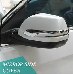 Wholesale Honda Crv Chrome - Promotion Chrome Side mirror molding trim cover For Honda CRV 2012 2013 2014