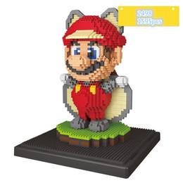 Wholesale Fly Display - weagle nano blocks flying mario mouse model figures thor plastic diamond blocks with display base bricks toys #2498