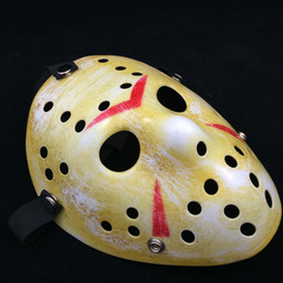 Wholesale Hockey Wholesale Free Shipping - Archaistic Jason Mask Full Face Antique Killer Mask Jason vs Friday The 13th Prop Horror Hockey Halloween Costume Cosplay Mask free shipping