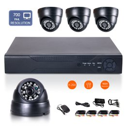 """Wholesale D1 H 264 8ch - 1 4"""" CMOS 8CH Full D1 H.264 Surveillance HDMI DVR 700TVL 24IR-Led 3.6mm Len Indoor network Security CCTV Camera System day&night monitoring"""