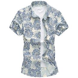 Wholesale Blue Hawaiian Flowers - Wholesale-M-5XL 6XL 2016 Summer Phoenix mens floral shirt black short sleeve mens hawaiian shirt Korean flower mens silk shirt G0217