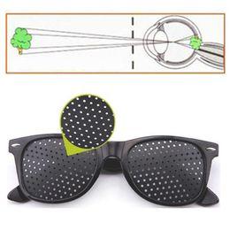 Wholesale Plastic Pinhole Glasses - High quality Black Unisex Vision Care Pin hole Eyeglasses Pinhole Glasses Eye Exercise Eyesight Improve Plastic