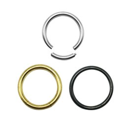 Wholesale European Rings - Nose Ring European And American Nose Ring Piercing Hypoallergenic Titanium Steel Nose Stud Rings Geometric Male And Female General Metal