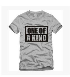 """Wholesale Kinds Tops For Men - Summer Cotton Women T-Shirts """"ONE OF A KIND"""" Letter Printed Top Fashion Hip Hop O-neck Short Sleeve Casual Top Tees For Couples"""