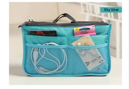 Wholesale Pink Storage Boxes - Multifunctional 9 Color high quality cosmetic bag makeup bag organizer bag Casual travel bag Storage box