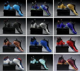 Wholesale Pearls Cultured Grey - [With Original Box] Penny Hardaway Mens Basketball Shoes European Pearl Hologram Metallic Foamposite Shoes One 1 pro Sneakers us7-13