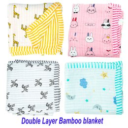 Wholesale Swaddle Bamboo - Muslin Tree swaddle 2 layers bamboo cotton baby muslin blanket Infant Wrap Cotton Baby bamboo Blanket