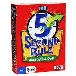 Wholesale Free More Games - 5 Second Rule - Just Spit it Out 2016 Hot New Game 5 Second Rule board game For Adult Or More Players Free Shipping