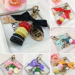 Deutschland Macaron Keyring Cake Keychain Schlüsselanhänger aus Metall Schlüsselanhänger abnehmbar C00443 CAD Versorgung