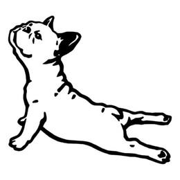 Wholesale Bulldog Vinyl - Bulldog France Animal Car Sticker Pet Dog Cartoon Car Styling Vinyl Accessories Decorative Jdm