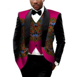 Wholesale Men Cotton Jacket Size 4xl - Brand Clothing African Clothes Mens Printed Blazer Men Jacket + Vest Fashion Slim Suits Dashiki Men Large Size 6XL Blazer WYN176