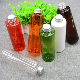 Wholesale Empty Plastic Bottles For Shampoo - 250ml PET Plastic Transparent Bottle with Aluminium Lid Empty Cosmetic Container for Shampoo Shower Gel or Cream