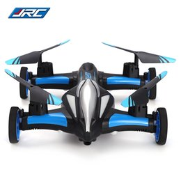Wholesale Fly 3d Model - Original JJRC 2.4G 4CH 6-Axis Gyro Air-Ground Flying Car RC Drone RTF Quadcopter with 3D Flip One-key Return Headless Model Drones RC HOT +B