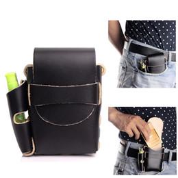Wholesale Lighter Cigarette Case Box Holder - Handmade Long Genuine Leather Cigarette Case Box With lighter Holder (For Full Pack Box of King Size& 100's)