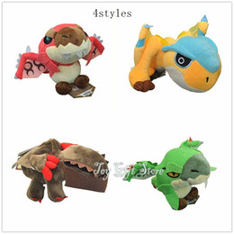 """Wholesale Stuffed Animals For Ems - Free Shipping EMS 4 Styles Monster Hunter 8"""" Freedom Game PlushToy Stuffed Animals Plush Toys For Gifts"""