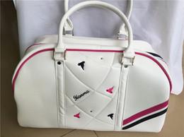 Wholesale Women Travel Shoe Bags - HONMA U100 Golf bag women golf boston bag ladies clothing bags PU fashion travel dufful bags can put shoes pink blue yellow