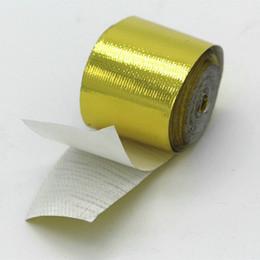 2 pulgadas * 33 pies por rollo autoadhesivo reflectante cinta dorada resistente al calor de alta temperatura envoltura de cinta de oro desde fabricantes