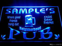 Wholesale Home Pubs - DZ008-b Name Personalized Neighborhood Home Bar Pub Beer Neon Light Sign