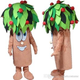 Wholesale Apple Costumes - SX0801 an adult apple tree mascot costume for adult to wear for sale for party for promotion