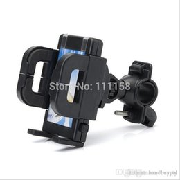 Wholesale Gps Navigator Bike - 200 PCS lot MTB Bike Cycling Mobile Phone Holder Stands Navigator Bracket GPS Fixed Navigation Support For iPhone Samsung 0419xx