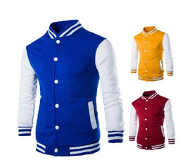 Wholesale Red Corduroy Jacket - New Arrival Black Jacket Men Spring Fashion Mens Single Breasted Patchwork Varsity Letter man College Baseball Jacket Men's Clothing Coats